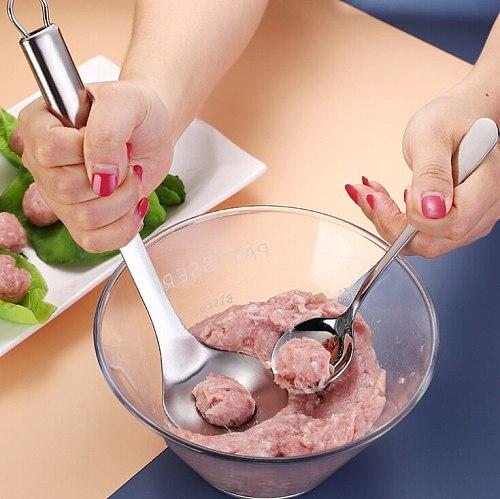 304 stainless steel meatballs maker Kitchen tools meatballs spoon fish balls shrimp smooth press meatballs