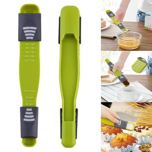 Measure Cup Double End Eight Stalls Adjustable Scale Measuring Spoons Metering Spoon Baking Tool Kitchen Accessor