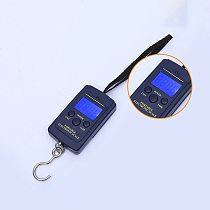 40kg x 10g Mini LCD Digital Scale For Fishing Luggage Travel Weighting Steelyard Portable Electronic Hanging Hook Scale