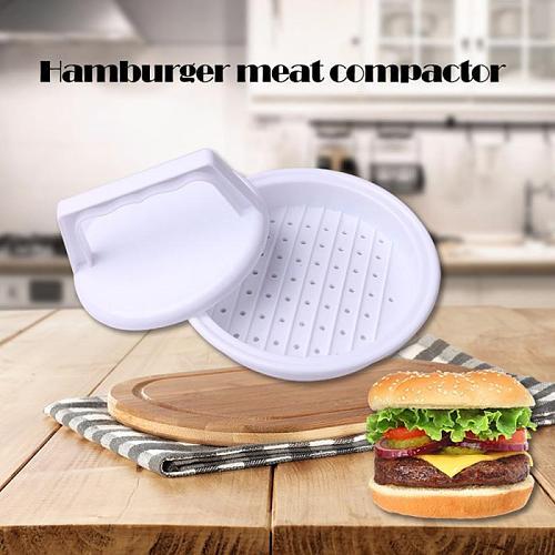 Kitchen Convenient Round Shape Hamburger Press Food-Grade Plastic Hamburger Meat Beef Grill Burger Press Patty Mold Supplies