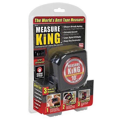 Measure king 3 in 1 Measuring Tape With Roll Cord Mode High Accuracy Laser Digital Tape High Impact Professional Measuring Tool