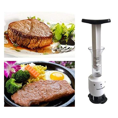 Meat Tenderizer Meat Injector Stainless for Tenderizing Beef Kitchen BBQ