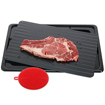 Defrosting Tray Frozen Food Thawing Plate For Fast Quick Rapid Meat Defrosting, Chicken, The Safest No Electricity, No Microwave