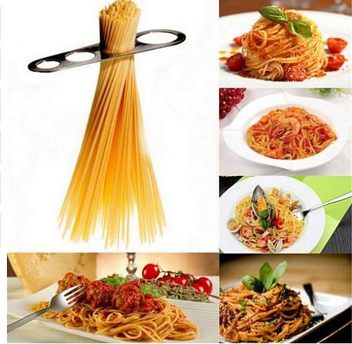 100 Pcs 4 Size Stainless Steel Pasta Spaghetti Measuring Tool Kitchen Gadget Measurer Measure Tool