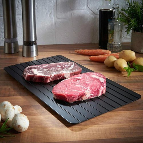 Fast Defrosting Tray Thawing Plate Board Family Quick Thawing Frozen Meat Defrost Kitchen Gadget Tool Supplies
