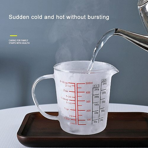 Glass Measuring Cup Jug Heat Resistant Glass Cup Measure Jug Creamer Scale Cup Glass Cup JS22