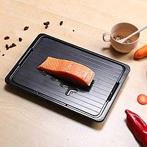 Defrosting Tray Freeze Food Thawing Plate for Fast Quick Rapid Meat Defrosting, Chicken Fast Defrosting Tray with Cleaner Freeze