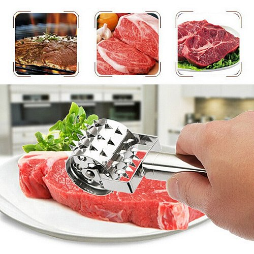 Stainless Steel Loose Meat Tenderizers Meat Hammer Steak Pork Pounders Needle