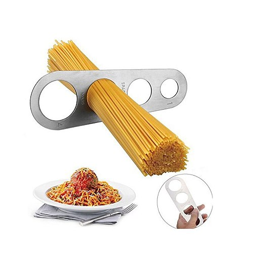 Stainless steel measuring tool spaghetti ruler 4 hole Western restaurant kitchen gadgets kitchen supplies noodle spaghetti ruler