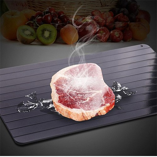 Fast Defrosting Tray Rapid Thaw Plate Magic Board for Frozen Foods Food-Safe Aluminum Quick Thaw Defrosting Tray for Kitchen