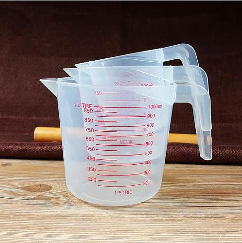 Clear Plastic Measuring Cup Heat-resistant Measuring Cup with Angled Grip and Spout Graduated Baking Tools