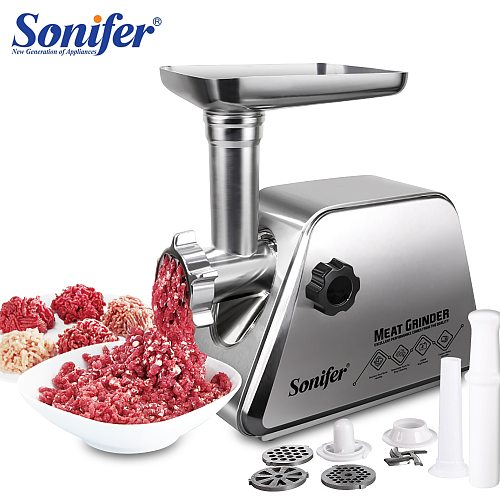 Electric Meat Grinders Stainless Steel Housing Heavy Duty Grinder Home Meat Mince Sausage Stuffer Food Processor Sonifer