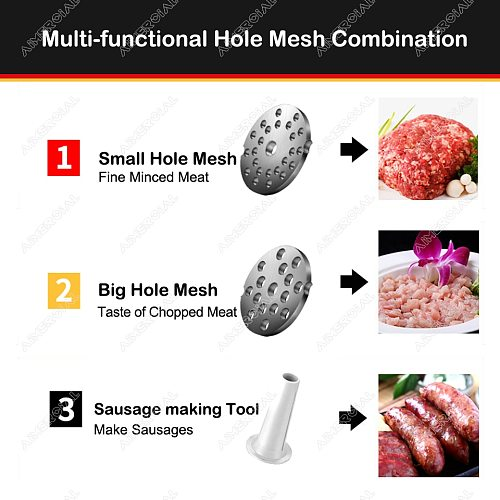 TC5/TC7 Electric Meat Mincer Machine stainless steel Meat Grinder  Sausage Machine With Blade Parts