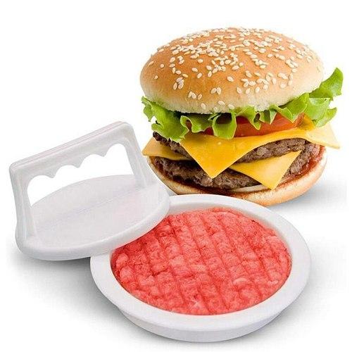 Hot 6 Pack Round Shape Hamburger Press Plastic Hamburger Meat Beef Grill Burger Press Patty Maker Mold Mould Kitchen