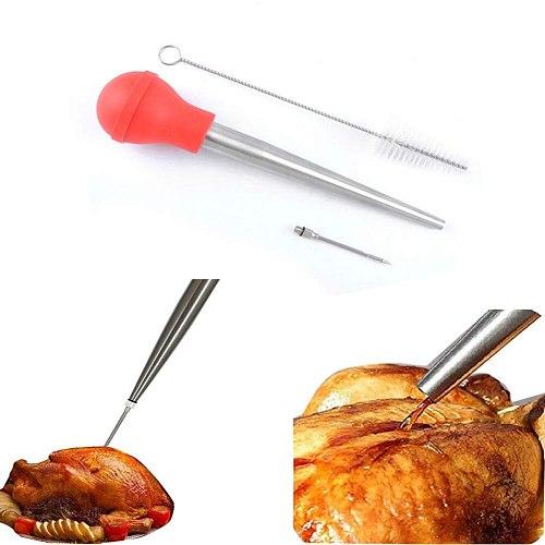 Turkey Meat Seasoning Pump Needle Injector Brush Kitchen Cooking Tool Sauce Injection Kitchen gadgets