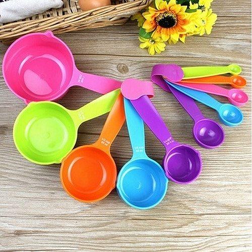 5Pcs/Set Kitchen Tools Food Grade Measuring Scoop Spoons Measuring Cups Spoon Cup Baking Utensil Set Kit Measuring Tools