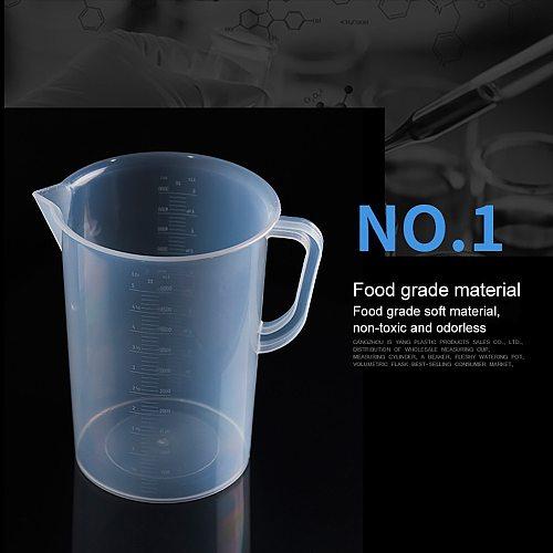 1000/2000/3000 Plastic Graduated Measuring Cup for Baking Beaker Liquid Measure JugCup Container Measurement Tools
