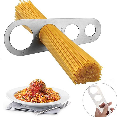Stainless Steel Pasta Ruler Spaghetti Measuring Tool Control Noodles Limiter 4 Serving Portion Kitchen Gadget Cooking Supplies