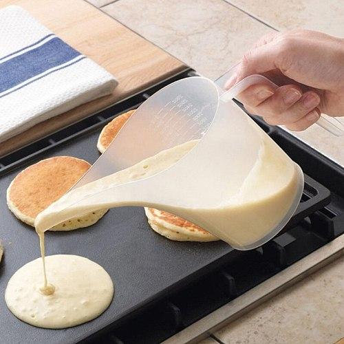 Plastic Liquid Measuring Cup Jug Pour Spout Surface With Lid Measuring Tools Baking Kitchen Accessories 1000ml