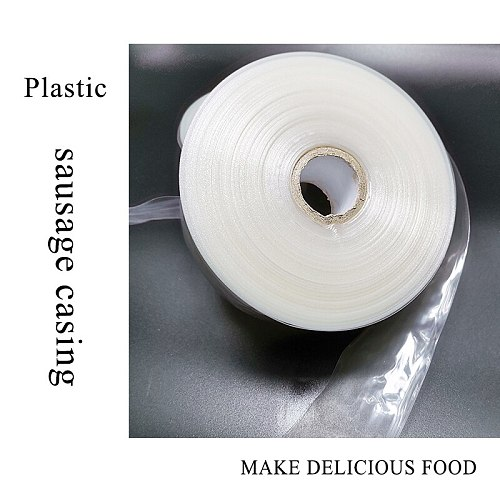 5 Meters Food Grade Casings for Sausage Salami Wide 50mm Shell for Sausage Maker Machine Hot Dog Plastic Casing Inedible Casings
