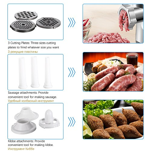 3000W Electric Meat Grinders Stainless Steel Housing Heavy Duty Grinder Home Meat Mince Sausage Stuffer Food Processor Sonifer