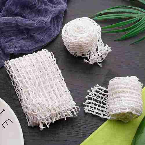 White Cotton Meat Net Cover Hot Dog Chicken Mesh Filter Bag Sausage Packaging Tools String E8E1