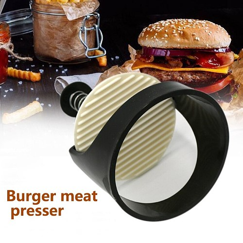 Hamburger Maker Hamburger Press Meat Beef Grill Burger Press Non-Stick Round Shape Kitchen Food Mold Plastic Kitchen Supplies