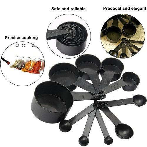 New 10pcs Kitchen Tools Measuring Spoons Set Teaspoon Coffee Sugar Scoop Cake Baking Measuring Cups Kitchen Cooking Baking Tools
