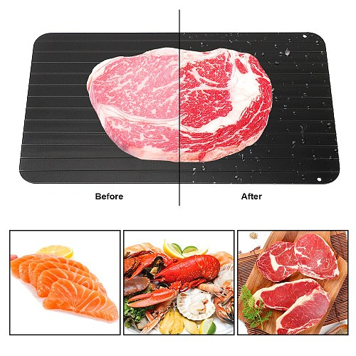 Quick Defrosting Plate Board Defrost Fast Defrosting Tray Aluminium Frozen Meat Food Fruit Thawing Kitchen Gadget Tool
