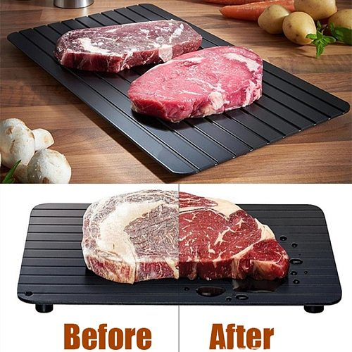 Quality Fast Defrost Tray Fast Thaw Frozen Meat Fish Sea Food Quick Defrosting Plate Board Tray Restaurant Kitchen Gadget Tool