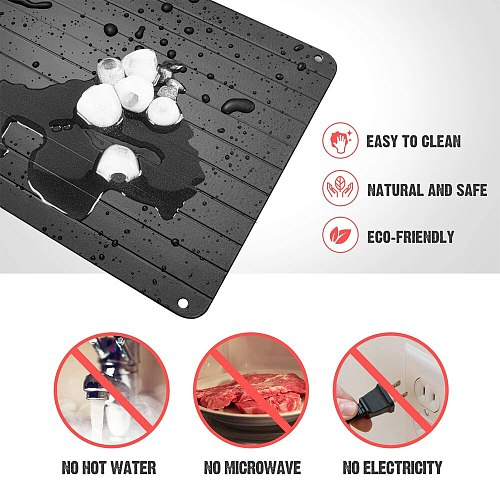 Defrosting Tray plate board Meat for Frozen Food Aluminum Thawing Plate Fast Fresh Healthy Defrosting Tray Kitchen Accessories