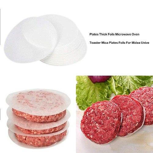 100pcs Round Hamburger Oil Blotting Paper Oven BBQ Grill Paper Absorbing Sheet Hamburger Patty Paper Kitchen Tools