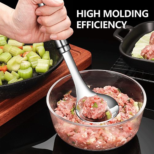 Stainless Steel Squeezed Meatball Artifact Making Meatball Tools Meatballs Maker Mold Spoon Kitchen Homemade Cooking Tools