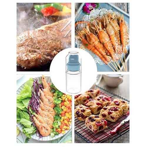 Oil Bottle Brush,Bottle Baster Brush for BBQ and Cooking,Oil Brush,Olive Oil Vinegar Salad Dressing Dispenser Bottle