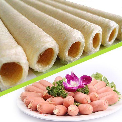 14 Meters Sausage Casings for Sausage BBQ Roast Salami Hot Dog Casing for Meat Filling Machine Hamburger Cook Tool Basters Tools