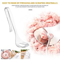 Non-stick Creative Meatball Maker Spoon Meat Baller With Elliptical Leakage Hole Meat Ball Mold Kitchen Utensil Gadget #T2P