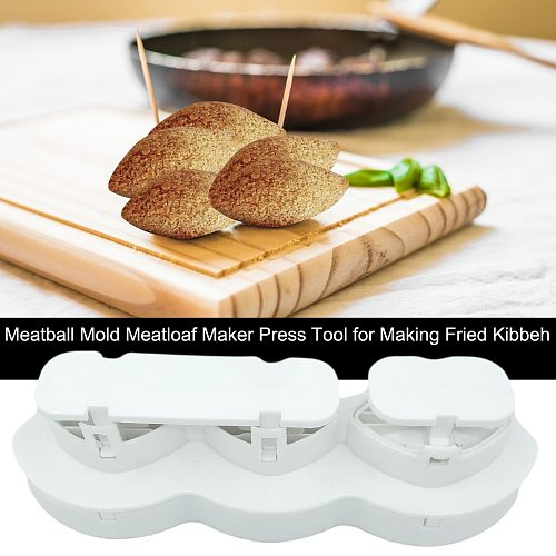 2021 Meatball Maker Manual Meatloaf Mold Kibbeh Maker Press Minced Meat Processor Cake Desserts Kitchen Tools Home Meat Pie