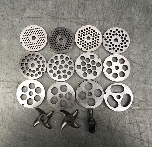 #12 Type Replaceable Meat Grinder Plate Hole 3-20mm Meat Mincer Plate Perforated  Strainer Manganese Steel Chopper Disc