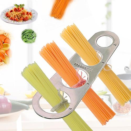 Easy Clearing Pasta Ruler Measuring Tool 4 Serving Portion Stainless Steel Spaghetti Measurer Cooking Supplies Control Tools