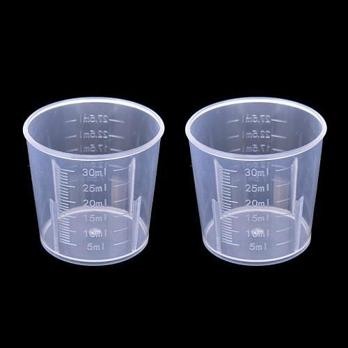 20ml / 30ml /50ml /300ml /500ml/1000ml Clear Plastic Graduated Measuring Cup for Baking Beaker Liquid Measure Jug Cup Container
