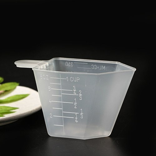 250ml 125g Plastic measuring cup-8oz for Baking Beaker Coffee JugCup Container Kitchen Measurin tool for washing powder rice cup