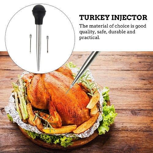 1 Set Thanksgiving Turkey Seasoning Syringe Kit Useful Syringe for Meat Cooking