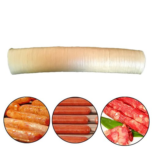 14m Dry Sausage Vegetarian Casing Shell Sausage Skin Collagen Protein Meat Casing Skin For Hot  BBQ Gadgets  Sausage