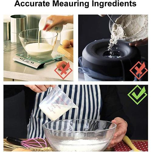 250/500/1000ml Plastic Measuring Cup With Graduated Jug Quality Tool Scale High Baking pour Spout Kitchen Supplies