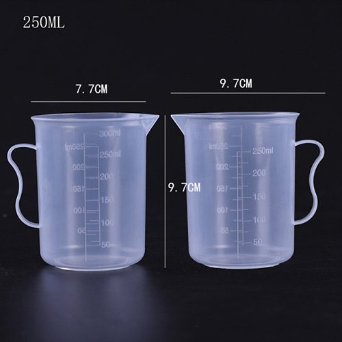 Reusable Plastic Measuring Cups Mulit Size Jug Graduated Surface Container Portable Liquid Pitcher Cups For Kitchen Storage Tool