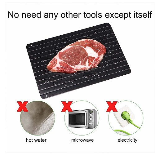Fast Defrosting Trays Thaw Frozen Food Meat Fruit Quick Defrosting Plate Board Defrost Tray Kitchen Gadget Tools
