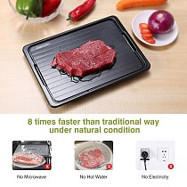 Fast Defrosting Tray with Cleaner Frozen Meat Defrost Food Thawing Plate Board Kitchen Tool BENL889