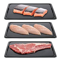 Fast Defrosting Tray Thaw Frozen Food Meat Fruit Quick Defrosting Plate Board 2-In-1 Defrost Chopping Board Kitchen Tool