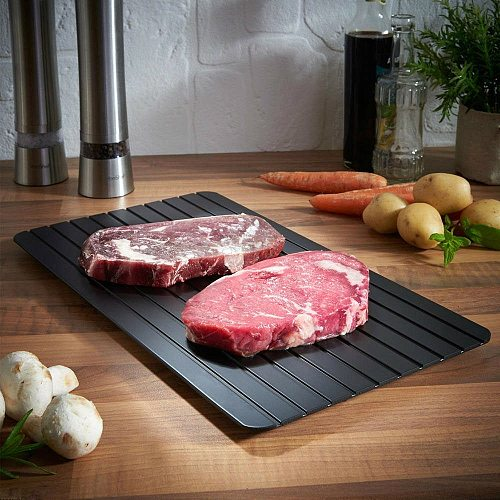No Electricity Fast Defrosting Tray Natural Thawing Frozen Meat Food Defrost Board Kitchen Food Meat Quick Defrosting Mat Tool