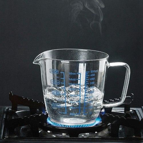 250/500ml Measure Jug Creamer Scale Cup Tea Coffee Pitcher Microwave Safe Glass Measuring Cup Milk Jug Heat Resistant Glass Cup